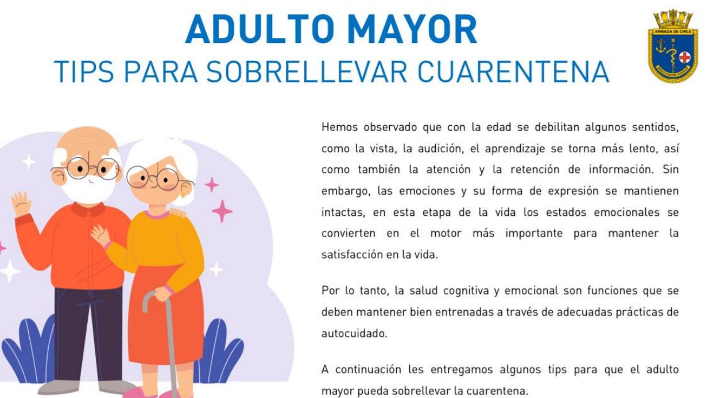 Adulto Mayor – Tips para sobrellevar la cuarentena